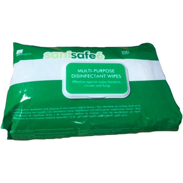 Sanisafe 6 Multi-purpose Disinfectant Wipes